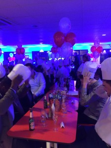 Guests wore chef hats at the Little Chef!
