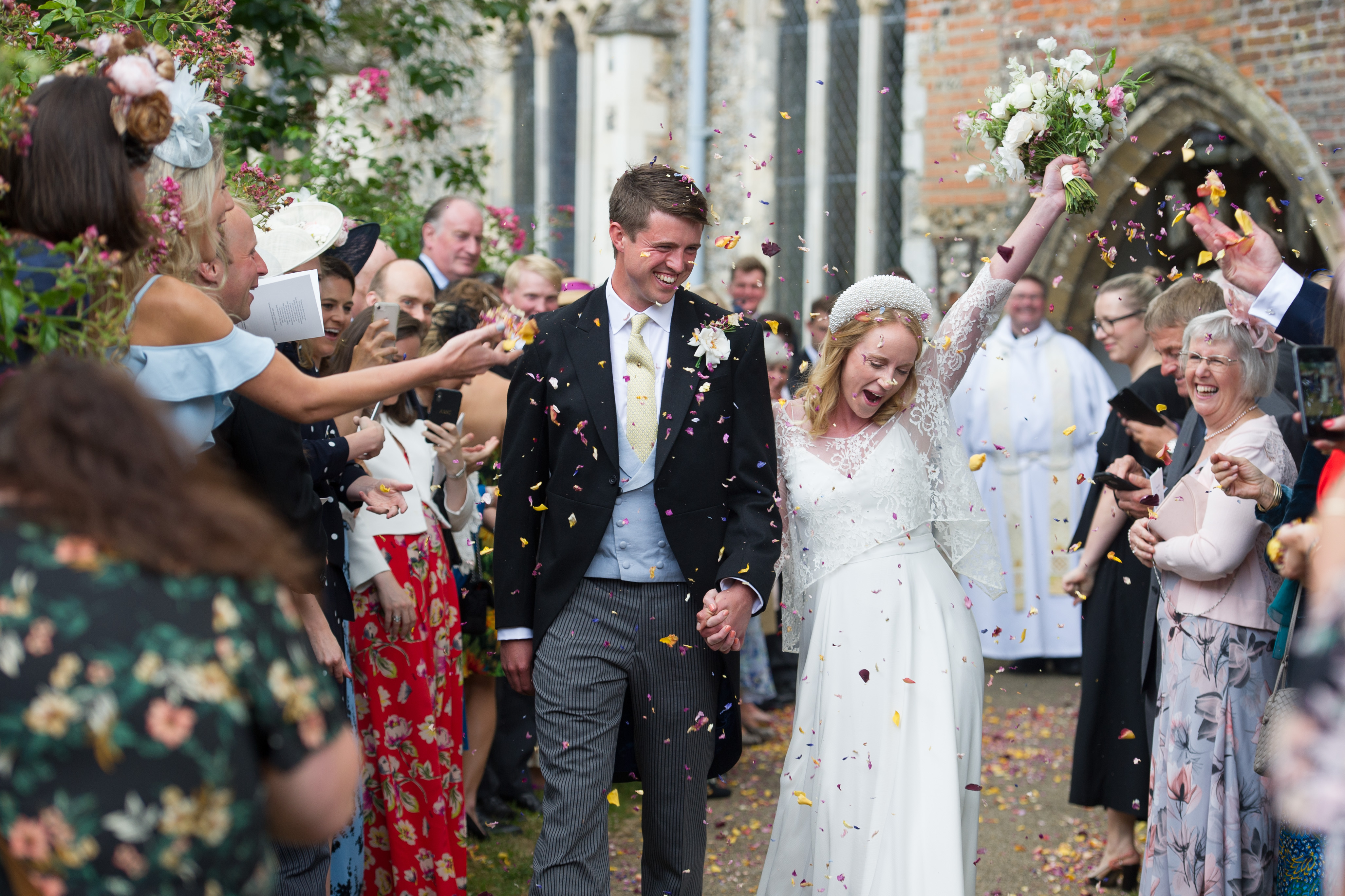 Just Married! Stoke-by-Nayland Church