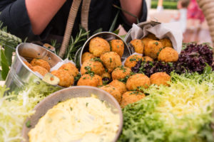 Kedgeree arancini with curried aioli