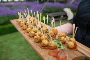 Guinea Fowl lollipops with sweet tomato compote