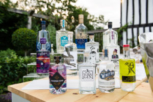 British Wedding Gin Bar displayed on perspex acrylic display unit
