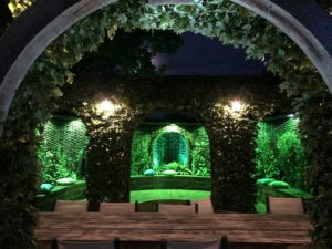 Stunning green garden lighting - Italian looking!