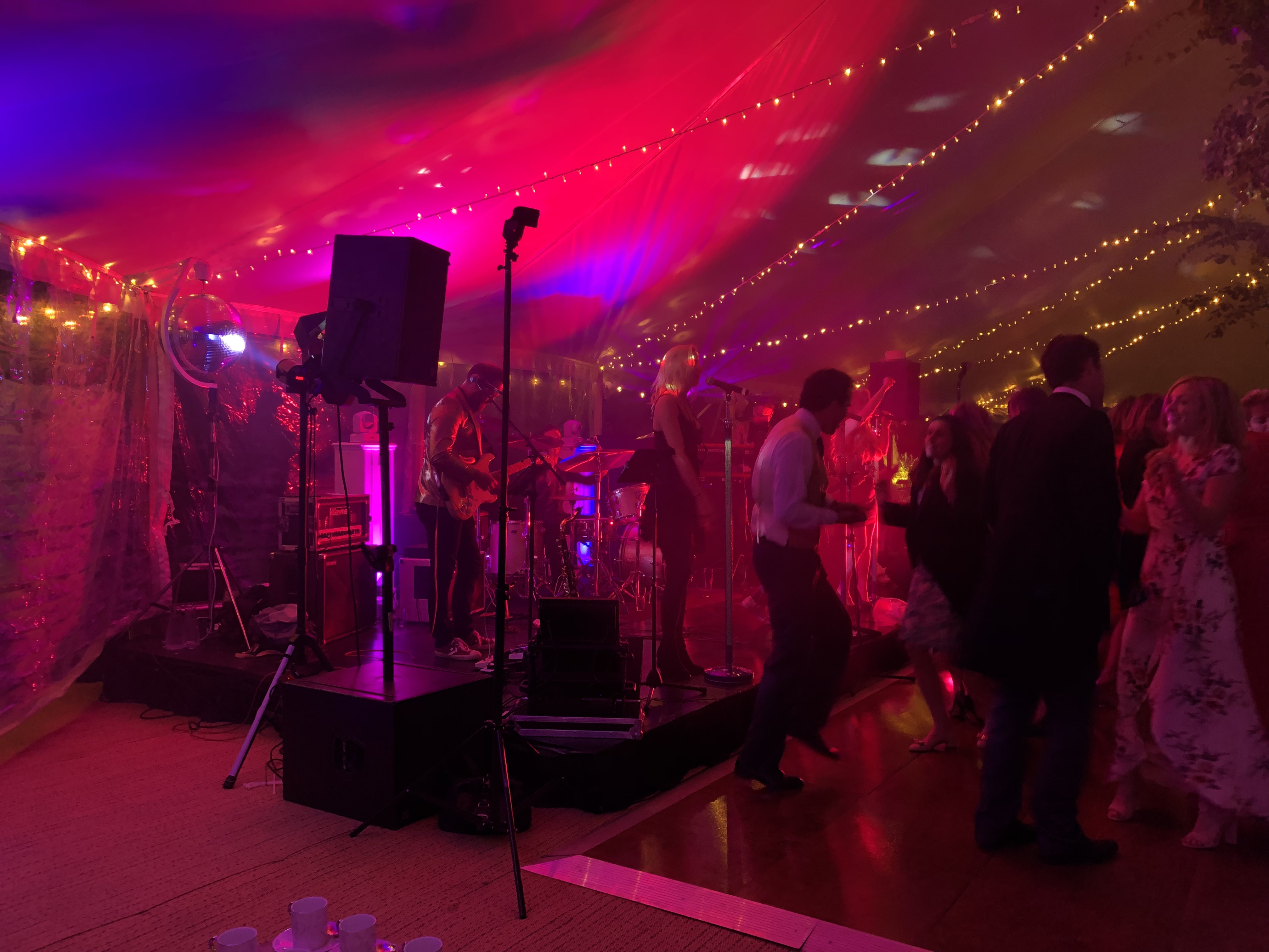Superb after dinner marquee lighting