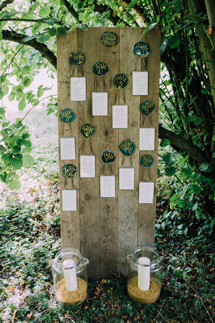 Agate slice wedding placements